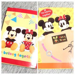 Disney - 箱付き新品未使用 非売品 ディズニー ミッキー ミニー ハンドタオル 2枚セット