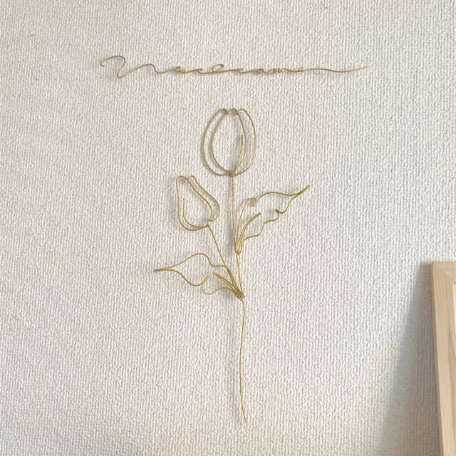 チューリップ 文字 ゴールド ハンドメイドのフラワー/ガーデン(ドライフラワー)の商品写真