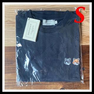 MAISON KITSUNE' - 【新品】メゾンキツネ Tシャツ ブラック S MAISON KITSUNE