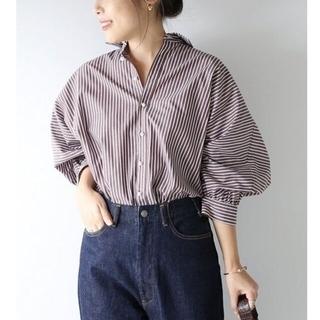 Spick and Span - Spick & Span  ギャザーパールボタンシャツ