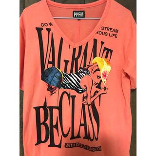 ピーピーエフエム(PPFM)のPPFM  Tシャツ オレンジ(Tシャツ/カットソー(半袖/袖なし))