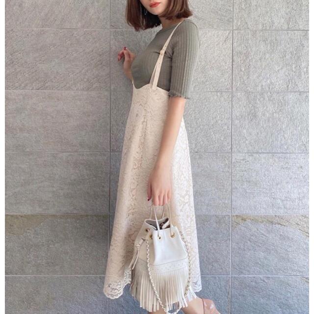 PROPORTION BODY DRESSING(プロポーションボディドレッシング)のプロポーション コードレースマーメイドジャンパースカート レディースのスカート(ひざ丈スカート)の商品写真