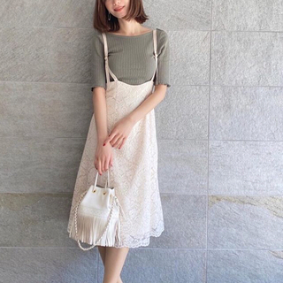 PROPORTION BODY DRESSING - プロポーション コードレースマーメイドジャンパースカート