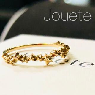 エテ(ete)の【Jouete】K10YG ゴールドスター レイヤード リング(リング(指輪))