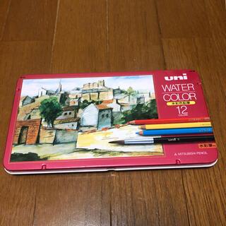 三菱鉛筆 ユニ ウォーターカラー 水彩色鉛筆 12色 UWC12C(色鉛筆)