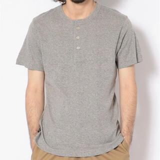 ショット(schott)の新品★Schott×Miller ヘンリーネックTシャツ グレー/L(Tシャツ/カットソー(半袖/袖なし))