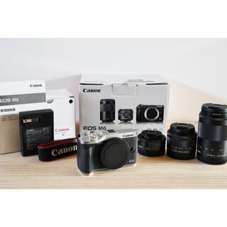 キヤノン(Canon)のCanon EOS M6 ズームキット+単焦点レンズ(ミラーレス一眼)