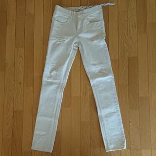 オフホワイト(OFF-WHITE)の極上 超レア 美品 OFF-WHITE オフホワイト ホワイトデニム サイズ29(デニム/ジーンズ)