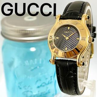 Gucci - 16 GUCCI グッチ時計 レディース腕時計 ブラック アンティーク 希少品