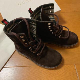 グッチ(Gucci)のGUCCI 子供 靴 新品(ブーツ)