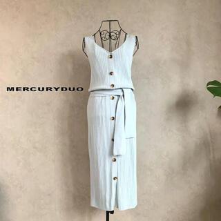 MERCURYDUO - 【美品】マーキュリーデュオ 2Wayワイドリブニットワンピース