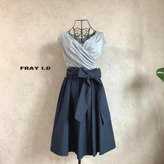 FRAY I.D - 【美品】フレイアイディー カットカシュクールワンピース