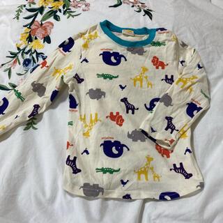 mou jon jon - moujonjon 95 長袖Tシャツ アニマル柄 ライオン キリン ゾウ
