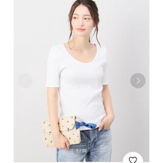 スピックアンドスパン(Spick and Span)のSpick & Span テレコUネックT(Tシャツ(半袖/袖なし))