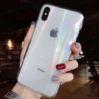 ★オーロラ レインボー  iPhone クリアケース ★