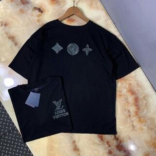 ルイヴィトン(LOUIS VUITTON)の新しい限定刺繡ロゴプリントデザイン半袖(Tシャツ/カットソー(半袖/袖なし))