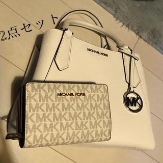 Michael Kors - MK・バッグ・ハンドバッグ・折りたたみ財布・財布・海外・韓国・2点セット・