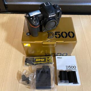 Nikon - 超美品 ニコン D500 シャッター数少 付属品完備 純正バッテリー2個