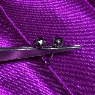 0.5 ct ×2 ブラックダイヤモンド 計1.00ct ピアス プラチナ