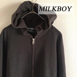 ミルクボーイ(MILKBOY)のMILKBOY ミルクボーイ デビルズフード ジップアップパーカー M(パーカー)