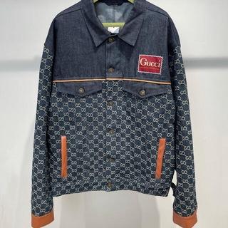 Gucci - 美品♥デニムジャケット全体ロゴ新作