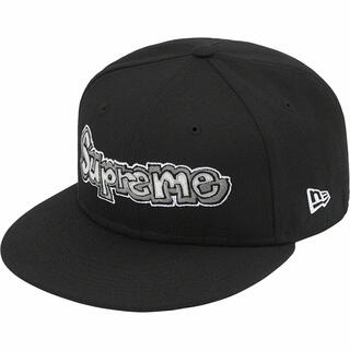 Supreme - 黒 7 3/8 Supreme Gonz Logo New Era Black