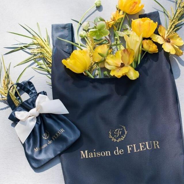 Maison de FLEUR(メゾンドフルール)のメゾンドフルール エコバッグ ネイビー レディースのバッグ(エコバッグ)の商品写真
