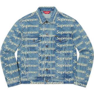シュプリーム(Supreme)のFrayed Logos Denim Trucker Jacket(Gジャン/デニムジャケット)