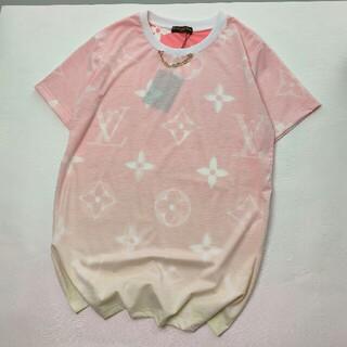 ルイヴィトン(LOUIS VUITTON)の新しい限定グラデーションプリントロゴレディース半袖Tシャツ(Tシャツ(半袖/袖なし))