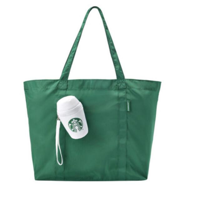 Starbucks Coffee(スターバックスコーヒー)のスタバ 韓国 ポータブル·エコバッグ レディースのバッグ(エコバッグ)の商品写真