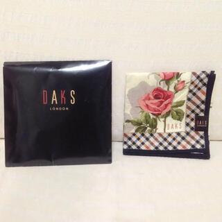 ダックス(DAKS)のDAKS LONDON ハンカチ スカーフ 大判 ダックス プレゼント用(ハンカチ)