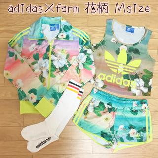 アディダス(adidas)の【美品】adidas farm 花柄 セットアップ&ソックス4点セット♡Mサイズ(セット/コーデ)