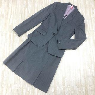 P.S.FA パーフェクトスーツファクトリー グレーストライプ スカートスーツ