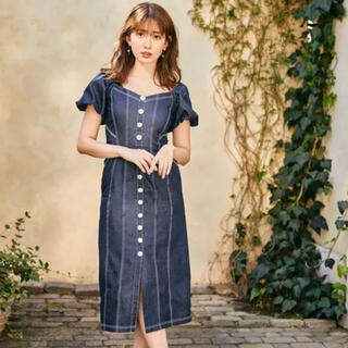 snidel - Puff Sleeve Midi Dress