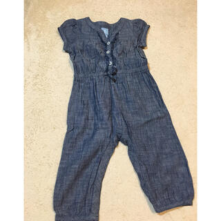 ベビーギャップ(babyGAP)のbaby GAP パフスリジャンプスーツ つなぎ 12〜18m 80cm (カバーオール)