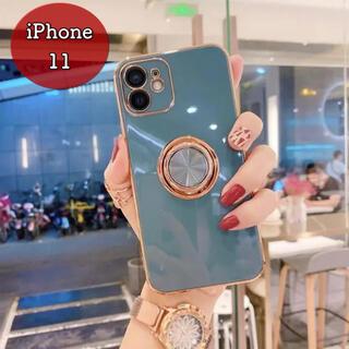 可愛い リング付きスマホケース iPhoneケース TPU素材 アイスグリーン