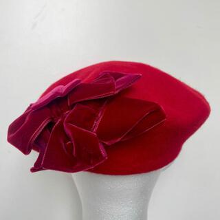 ジェーンマープル(JaneMarple)のJane marple マルティプルリボンベレー帽 (ハンチング/ベレー帽)