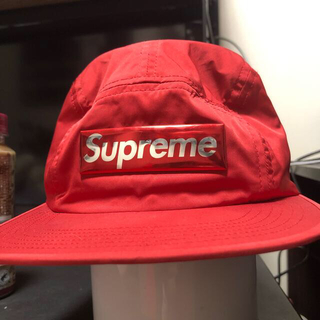 Supreme - Supreme Liquid Metal Logo Camp Cap  レッド