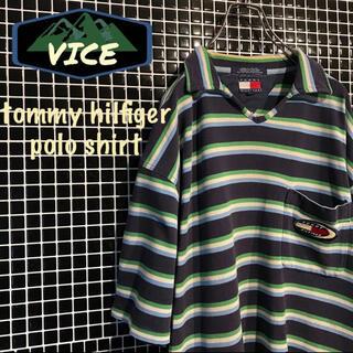 TOMMY HILFIGER - レア★tommyhilfiger/トミーヒルフィガー 90's ポロシャツ 古着