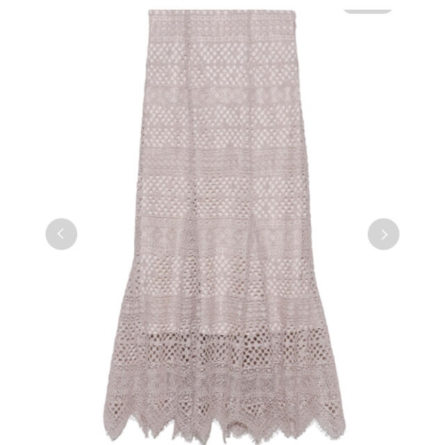 snidel(スナイデル)の完売色🌷新作新品🍀スナイデル ヘムフレアレーススカート レディースのスカート(ロングスカート)の商品写真