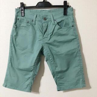 リーバイス(Levi's)の美品 リーバイス  エメラルドグリーン ハーフパンツ メンズ W29(ショートパンツ)