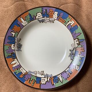 マンハッタナーズ(Manhattaner's)の【新品未使用】マンハッタナーズ 総柄ペアカレー皿(食器)