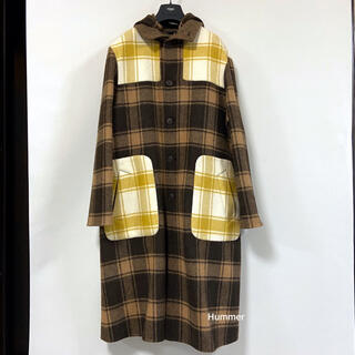 FENDI - 国内正規品 フェンディ コレクション 18AW〜 フーデッド ロングコート 極美