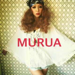 MURUA - MURUA★シフォントップス★レースポンチョ