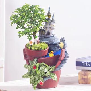 植木鉢 フラワーポット オシャレ DIY おとぎの城 Y1F1P1