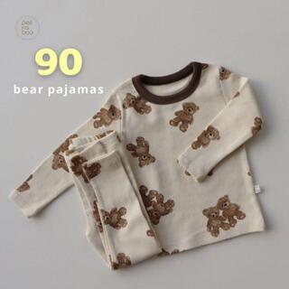 Peeka boo / bear pajamas[bear/90](パジャマ)