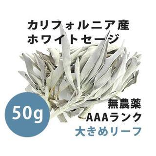 【無農薬】ホワイトセージ  高品質50g 解説マニュアル&チャック付きポリ袋(お香/香炉)