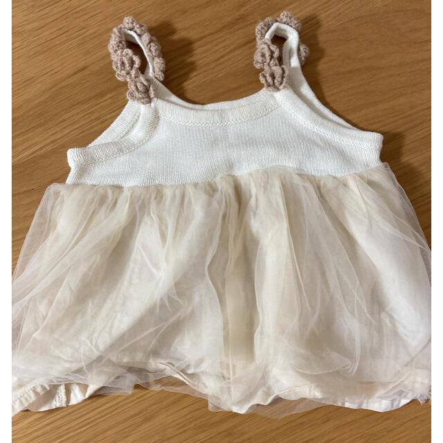 petit main(プティマイン)のプティマイン ワンピース ロンパース チュール 70 キッズ/ベビー/マタニティのベビー服(~85cm)(ワンピース)の商品写真
