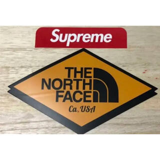 Supreme - THE MORTH FACE & supreme シュプリーム ステッカー