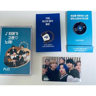 BTS flo イベント トレカ 韓国限定 all トレカ バッジ ケース付